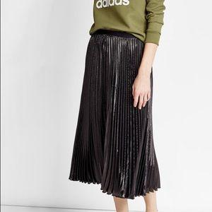 DVF Shimmer Pleated Skirt